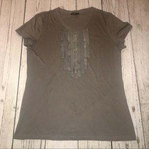 {Gap} Grey Ribbon Front Tee XL
